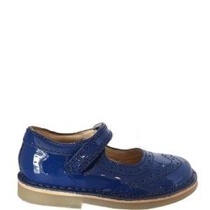 Petasil Claret Royal Blue Patent Shoes
