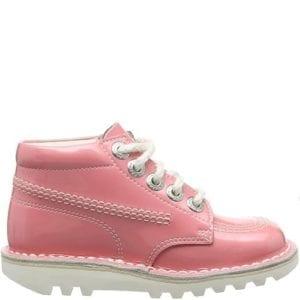 Kickers Kick Hi Core Pink Patent