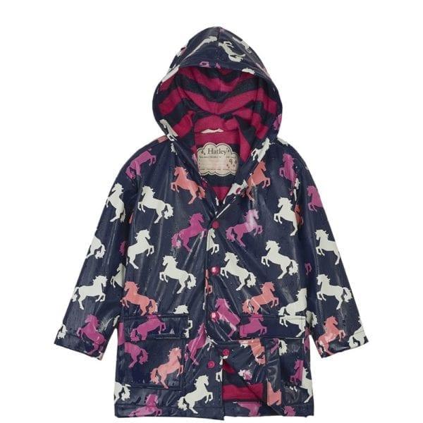 Hatley Playful Horses Raincoat